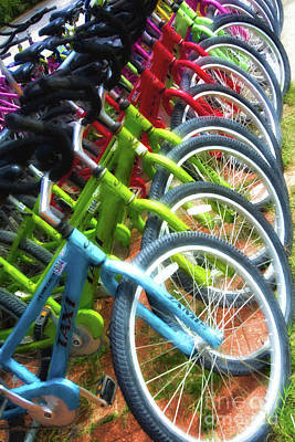 Photograph - Bicycles On Florida County Road 30-a by Mel Steinhauer