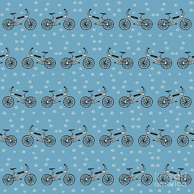 Bicycles Pattern Art Print