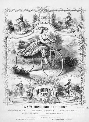 Photograph - Bicycles: Songsheet, 1869 by Granger