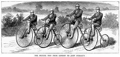 Bicycling, 1873 Art Print by Granger