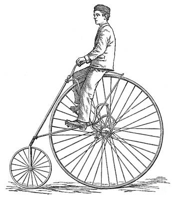 Photograph - Bicycling, 1880 by Granger