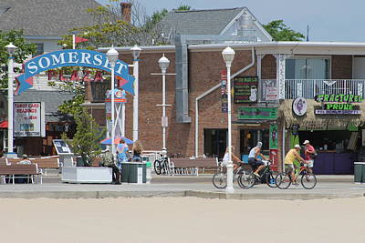 Photograph - Bicycling By Somerset Plaza by Robert Banach