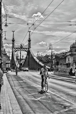 Photograph - Bicycling In Budapest by Sharon Popek