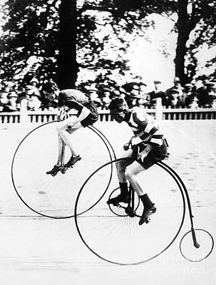 Photograph - Bicycling Race, C1890 by Granger