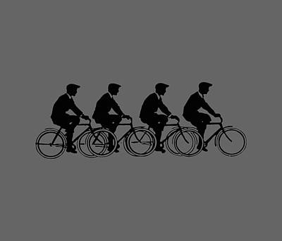 Bicycling T Shirt Design Art Print by Bellesouth Studio