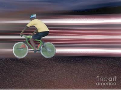 Painting - Bicyclist by Belinda Threeths