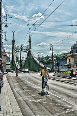 Photograph - Cyclists In Budapest by Sharon Popek