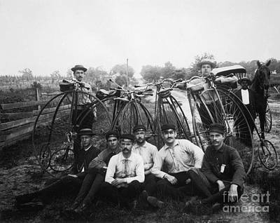 Photograph - Bicyle Riders, C1880s by Granger