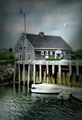 Photograph - Biddeford Pool Marina by Diana Angstadt
