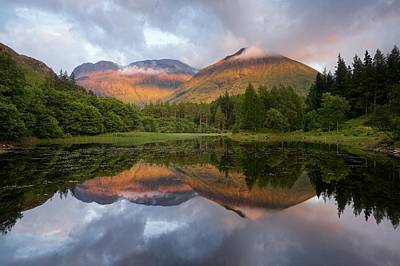 Photograph - Bidean Nam Bian At Sunset by Stephen Taylor