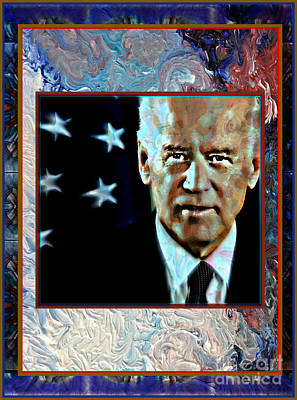 Joe Biden Wall Art - Mixed Media - Biden by Wbk