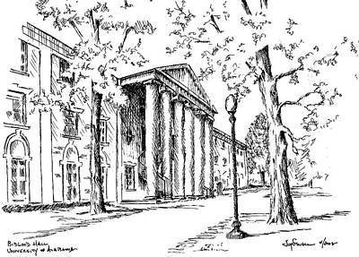 University Of Alabama Painting - Bidgood Hall by Jim Stovall