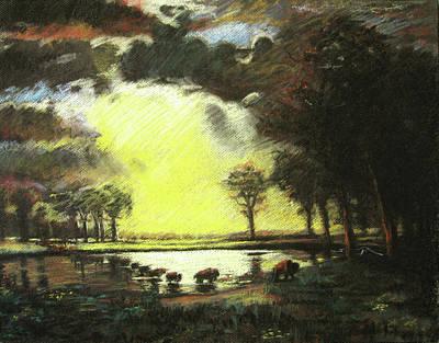 Bierstadt Impression Art Print by Nils Bifano
