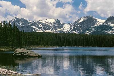 Bierstadt Lake Hallett And Otis Peaks Rocky  Mountain National Park Art Print