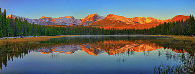 Photograph - Bierstadt Lake Morning Panorama by Greg Norrell