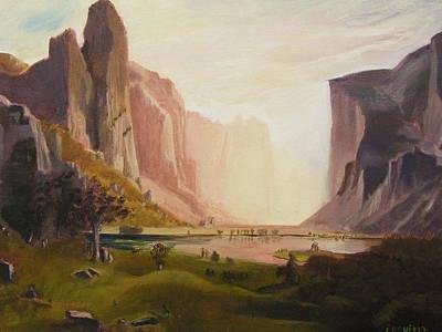 Bierstadt Rendition Original by Gail Eisenfeld