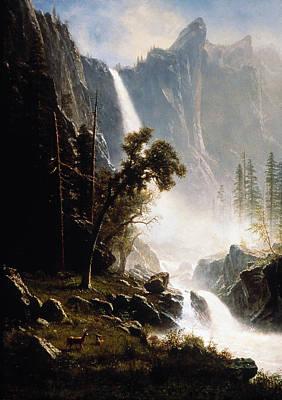 Hudson River School Photograph - Bierstadt: Yosemite, 1870s by Granger