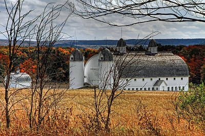 Photograph - Big And Little Barns by Richard Gregurich