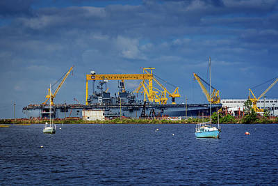 Photograph - Big And Small Boats by Barry Jones
