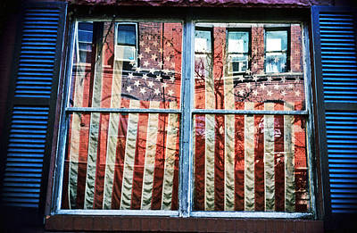 Photograph - Big Apple Flags by Russell Pierce