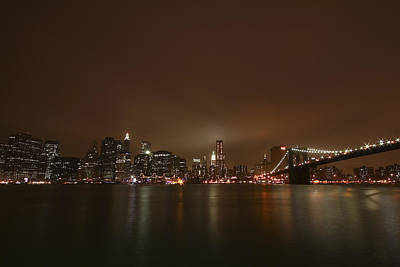 Citiscapes Photograph - Big Apple Lights by Evelina Kremsdorf