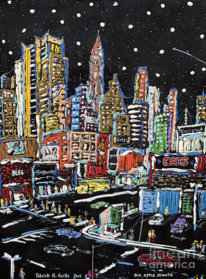 Painting - Big Apple Minute by Patrick Grills