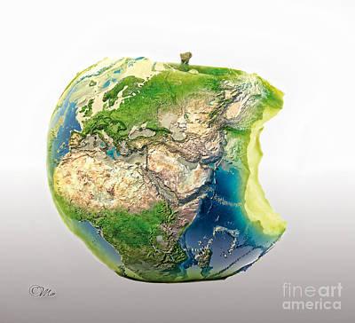 Big Apple Art Print by Mo T