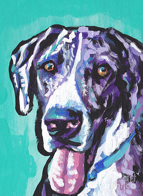 Great Dane Painting - Big Baby Dane by Lea S