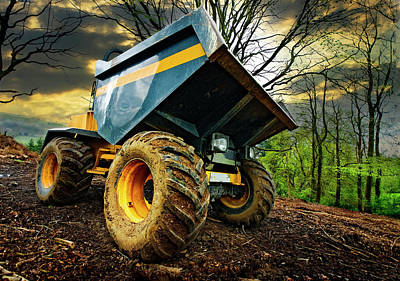 Big Bad Dumper Truck Art Print by Meirion Matthias