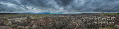 Surrealism Royalty Free Images - Big Badlands Overlook Panorama Royalty-Free Image by Michael Ver Sprill