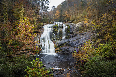 Big Bald River Falls Art Print by Debra and Dave Vanderlaan