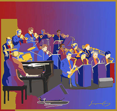 Digital Art - Big Band by Suzanne Cerny