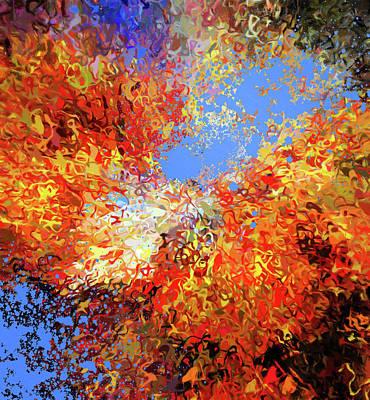Mixed Media - Big Bang Abstract Art by Georgiana Romanovna