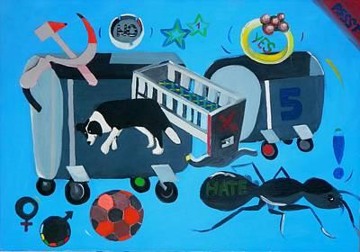 Museum Painting - Big Bang by Moma Bjekovic