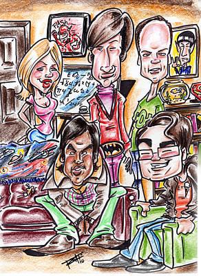 Wallwhitz Drawing - Big Bang Theory by Big Mike Roate