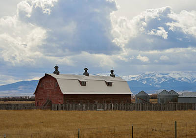 Photograph - Big Barn In Color by Kae Cheatham