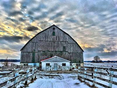 Big Barn Sunset Art Print