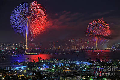 Photograph - Big Bay Boom Fourth Of July Fireworks Show by Sam Antonio Photography