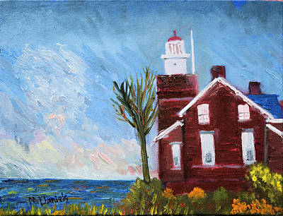 Painting - Big Bay Lighthouse  by Michael Daniels