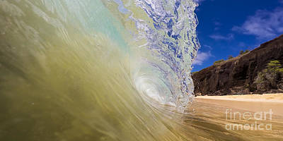 Big Beach Maui Shore Break Wave Wide  Art Print by Dustin K Ryan