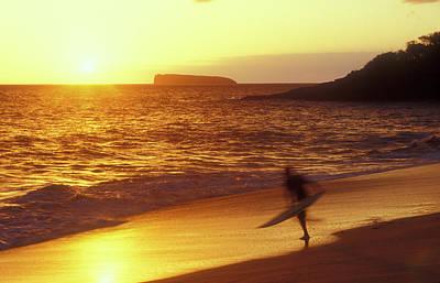 Photograph - Big Beach Surfer by John Burk