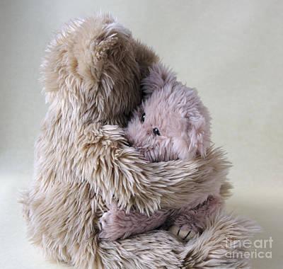 Big Bear Holds Little Bear Art Print by Ruby Hummersmith