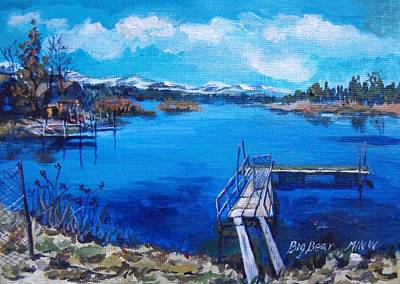 Big Bear Lake 1 Art Print by Min Wang