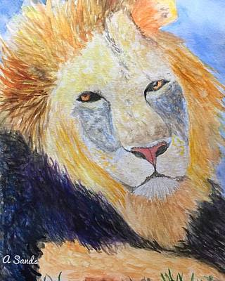 Painting - Big Beautiful Cat by Anne Sands