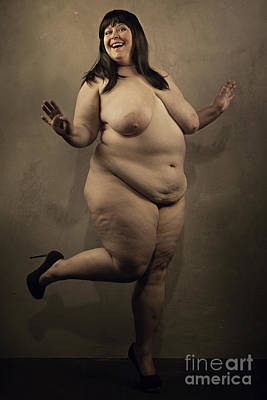 Photograph - Big Beautiful Woman #8827o by William Langeveld