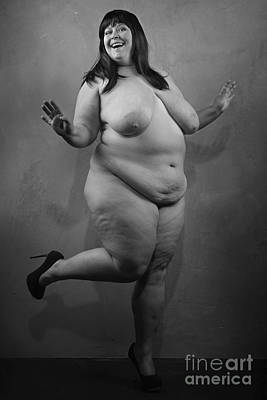 Photograph - Big Beautiful Woman In Black And White #8827o by William Langeveld