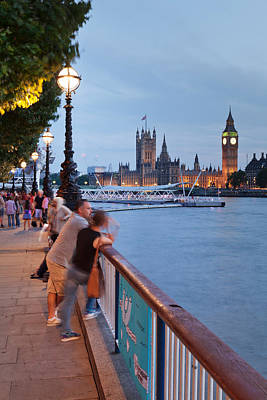 Big Ben And Houses Of Parliament Viewed Print by Panoramic Images