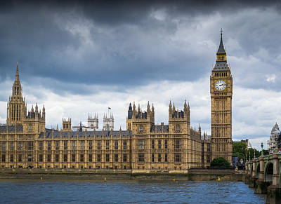 Photograph - Big Ben And Houses Of Parliament With Thames by John Williams