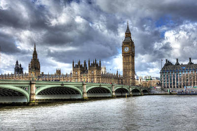 Photograph - Big Ben And Thames by Shawn Everhart