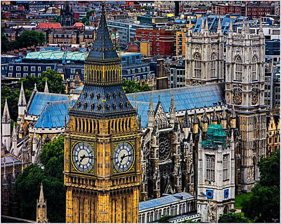 Photograph - Big Ben And Westminster Abbey by Chris Lord